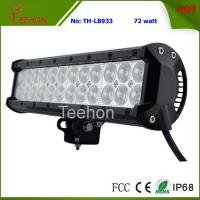 Best 72W 12 Inch Double Row LED Light Bar for 4X4 auto,LED spot light or LED flood light beam wholesale