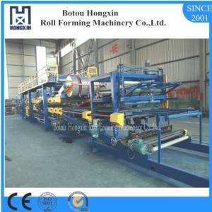 Best PLC Control Sandwich Panel Making Machine 1000 / 12000mm Annual Output wholesale