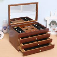 China wholesale wood ring jewellery wooden jewelry box with Six-layer drawer on sale