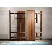 Best 2017 New walnut wood Bespoke Furniture Storage Cabinet Display Shelves with Glass door wholesale