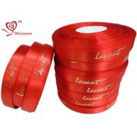 Best Red gift tie ribbon 6 / 8 Inch Custom Printed , personalized gift ribbon for Chocolate / candy wholesale