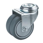 Best hollow king pin twin wheels caster wholesale