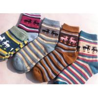 China Christmas deer patterned design cosy cotton sweat-absorbent winter dress socks for women on sale