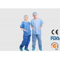 China Dust Proof Disposable Medical Scrubs , Anti Blood Disposable Dental Gowns on sale