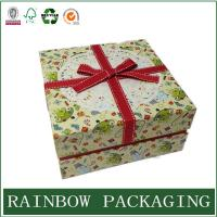 Best Factory Custom Cardboard Paper Box Packaging for Gift Chocolate with Ribbon wholesale