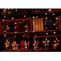 Best Xmas Hanging Star Curtain Lights 1M 110v / 220volt Family Electricity Power wholesale
