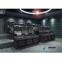 Best Black 4D Cinema Equipment Chair Play 3D Films , 4D seats With Sweep Leg And Push Back Effect wholesale