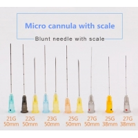 China Lastic Surgery Cosmetic Cannula Sterile 21G Blunt Tip Needle on sale