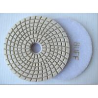 Best Fast Wet Buff Diamond Flexible Polishing Pad 100mm White / Black Color wholesale