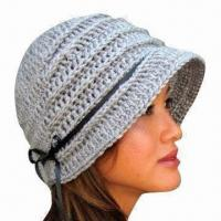 China Hand Crochet Hat for Women, Handmade, OEM Orders are Welcome on sale