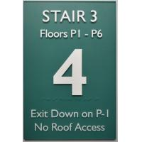 China Straight Edge ADA Compliant Signs 12X18 , Acrylic Panel Braille Exit Stair Sign on sale