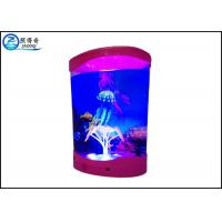 Best Multicolored ABS Plastic Decorative Jellyfish Tank With 3 Silicone Simulation Jellyfish wholesale