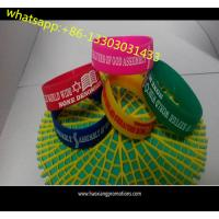 China Custom Wide shaped silicone wrist band / QR CODE Printing silicone bracelet on sale