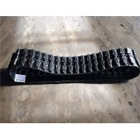 Buy cheap Grey Color Rubber Digger Tracks 72mm Pitch Durable With High Load Performance from wholesalers