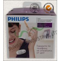 Best Offset Printing Electronics Packaging Boxes With Transparant Plastic Handle wholesale