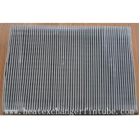 Buy cheap Continous Piece Single Row Flat Fin Tube , Fin Per 1 Meter 250 Or 333 product