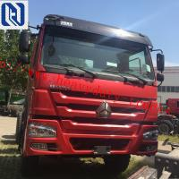 China Red color Efficient Tipper Commercial Dump Trucks 50T RHD Low Fuel Consumption on sale