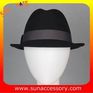 Best T5781186 Sun Accessory customized fashion  winner 100% wool felt  fedora hats, unisex hats and caps wholesaling wholesale