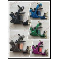 China Ice Blue Iron Handmade Tattoo Machines , Single Coil Tattoo Machine on sale