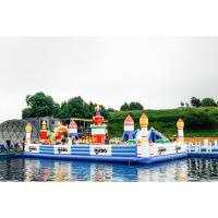 China Airtight Kids Game Inflatable Fun City Castle With Slide Printed Logo on sale