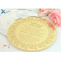 Best Round Shape Acrylic Gifts / Acrylic Wedding Invitation Cards With Different Color wholesale
