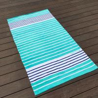 Best Sunscreen Extra Large Thick Beach Towels Blue White Stripe 35 X 68 wholesale