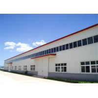 China High Durability Premade Steel Buildings , Metal Workshop Building Kits With Crane on sale