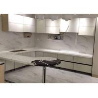 Best White Quartz Kitchen Worktops , Quartz Stone Countertops Customized Size wholesale