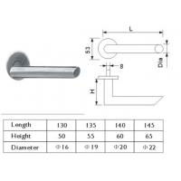 Cheap Bevel Edge Stainless Steel Interior Door Handles Tubular Level Metal Door Handle for sale