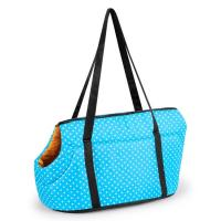 Best Dot Printed Pet Carrier Bag Polyester Material Weight 1kg Zipper Closure wholesale