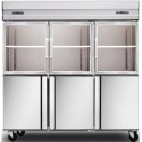 China 1600L Glass Door Commercial Kitchen Refrigerator , Stainless Steel Kitchen Appliances on sale