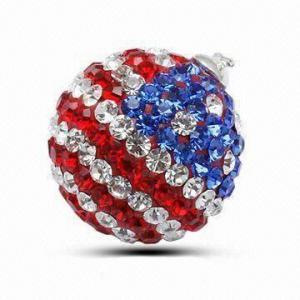 Best Crystal Stone/Swarovski Strawberry Pendant, Italian Style wholesale