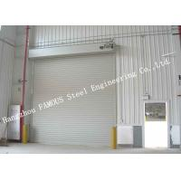 Best Automatic High Speed Electric Roller Shutter Doors PVC Fabric Doors With Aluminium Frames wholesale