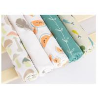 Best Durable Printed Bamboo Muslin Fabric 100 Percent Medical Grade Soft Feeling wholesale