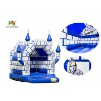 China Blue White Commercial Kids Air Jumping Inflatable Castle Toys With Roof on sale