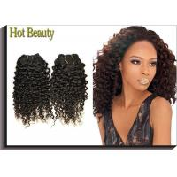 Best Tangle Free Human Hair Indian Remi Kinky Curly Hair Extensions Double Weft wholesale