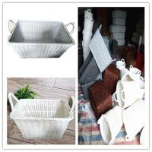 Best PP Rattan Eco-Friendly OEM plastic durable wicker laundry storage basket,wicker basket wholesale