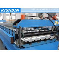 Buy cheap Metal Deck Roll Forming Machine with Hydraulic Cutting , 0.7mm - 2.0mm product
