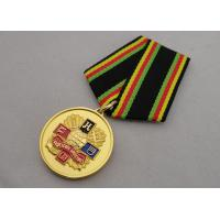China Soft enamel Custom Medal Awards with Gold Plating Foggy Paint Special Ribbon wholesale