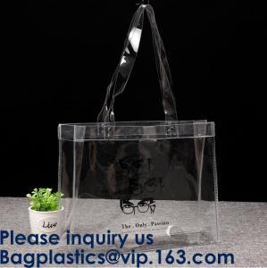 Best Promo Custom Logo PVC shopping bag gift bag printed bag, Reusable PVC Plastic Transparent Shopping Bag, Bagease, PACK wholesale