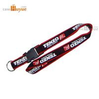 China Printed Lanyard neck polyester lanyard with a key ring and ABS buckle on sale