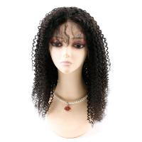 Best Kinky Curly Front Lace Wigs , Lace Front Full Wigs Human Hair 8A Grade wholesale