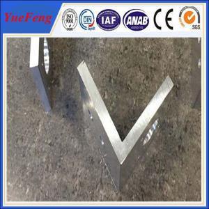 China aluminium profile corner joint / aluminum corner profile / aluminium rectangular extrusion on sale