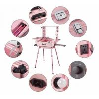 Best Aluminum Portable Makeup Organizer With Mirror And Light Easy Operate wholesale