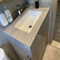 China Natural Quartz stone Marble bathroom Vanity Tops For Hospitality Remodeling on sale