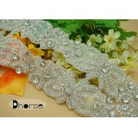 China Handmade Bling Bling Decorative Rhinestone Applique Trim For Wedding Dresses wholesale
