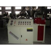 Best High Efficiency Plastic Profile Extrusion Machine / Conical Twin Screw Extruder for WPC PVC Profiles wholesale