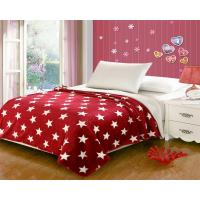 Best Red Five Pointed Star Flannel Fleece Blanket With Customized Designs wholesale