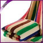 Best high quality super absorbent bath towel jacquard stripe cotton beach towel wholesale