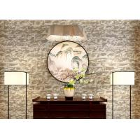 Best Mould Proof Brick Pattern Wallpaper / 3D Brick Effect Wall Coverings For TV Background wholesale